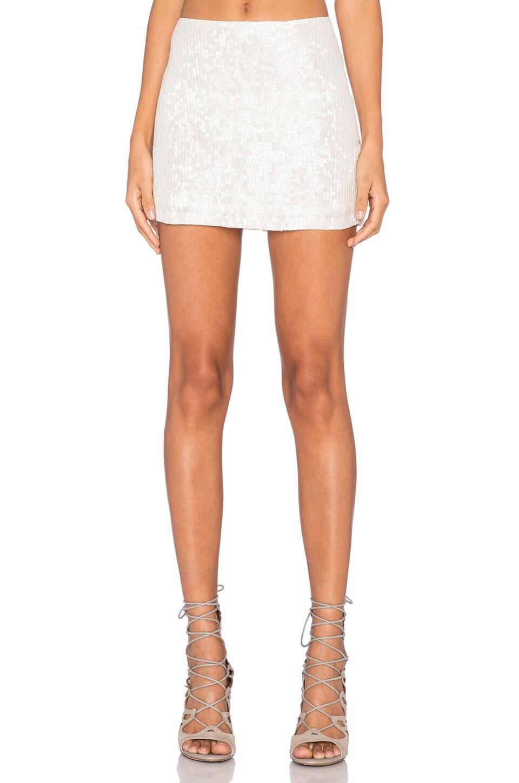 MLV Justin Sequin Mini Skirt in White