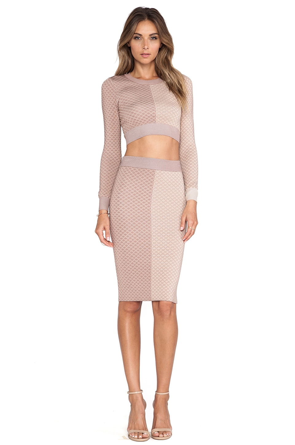 MLV Shae Argyle Pencil Skirt in Nude | REVOLVE
