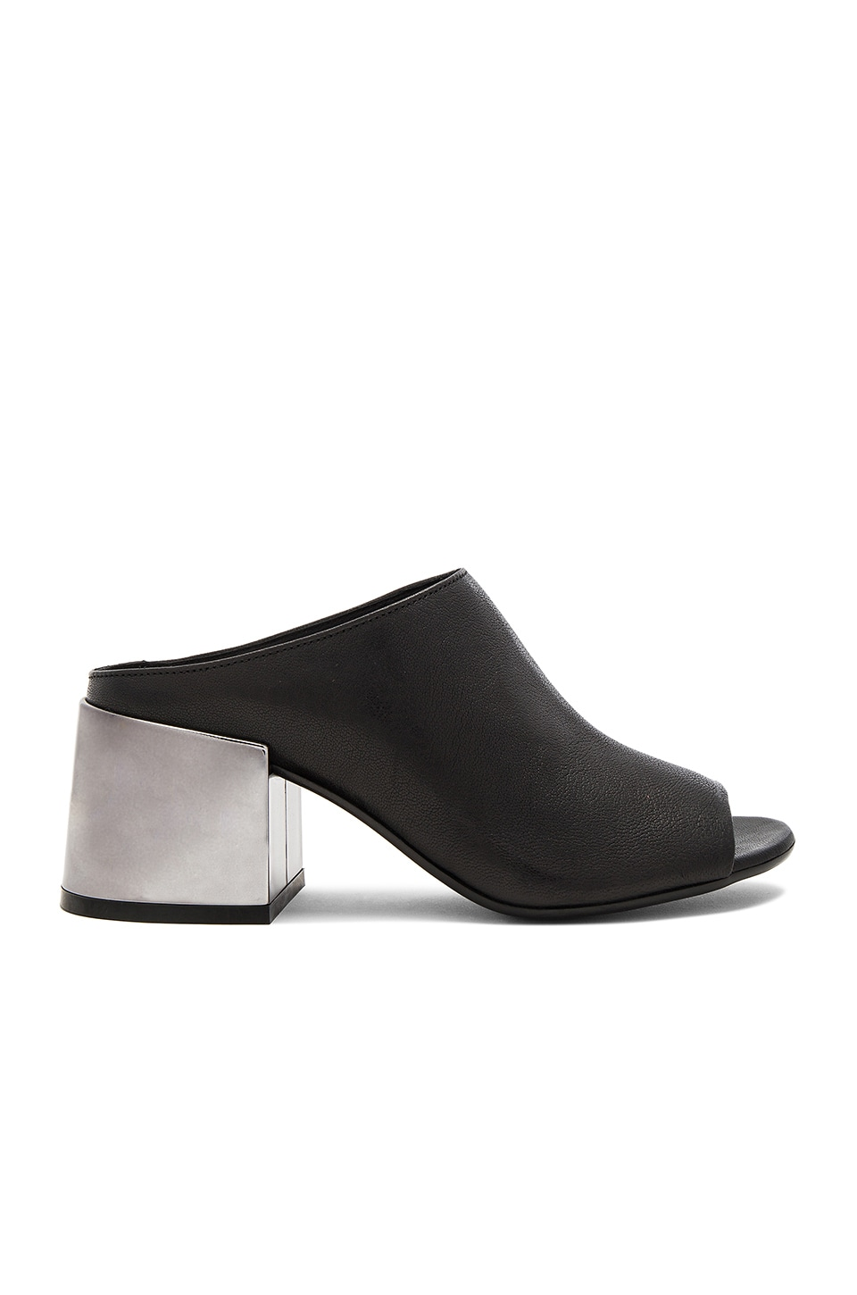 MM6 Maison Margiela Slip On Heeled Sandal in Black