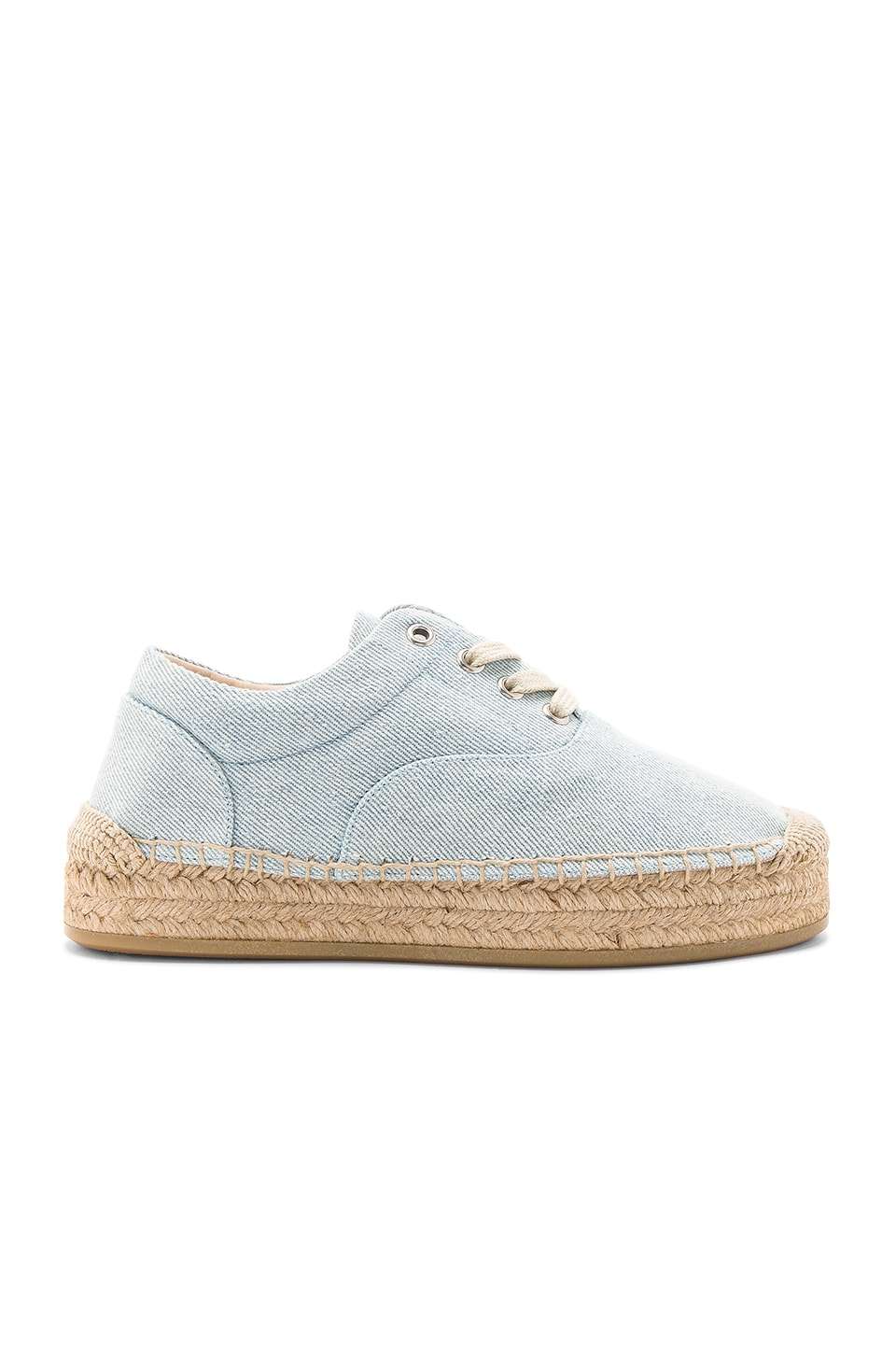 MM6 Maison Margiela Espadrille in Light Blue