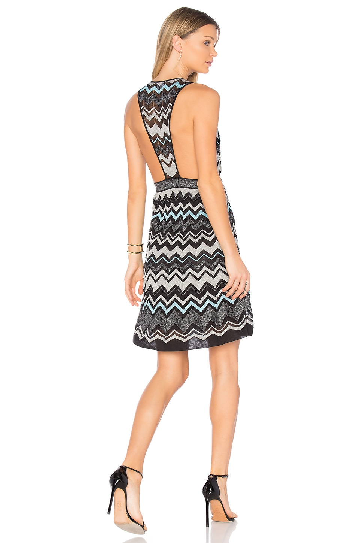 Sleeveless V Neck Mini Dress by M Missoni