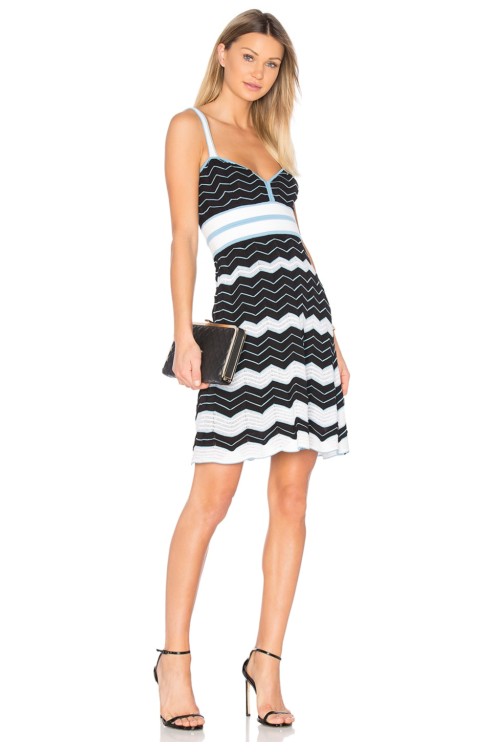Sleeveless Sweetheart Neck Mini Dress by M Missoni