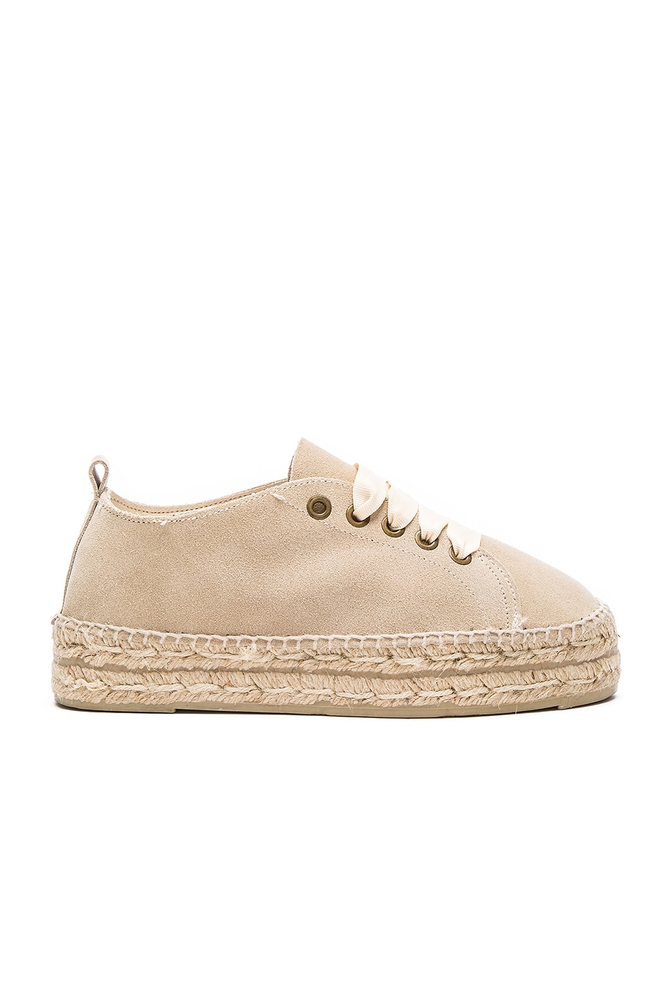 bfd61d0ddf9 MANEBI Hamptons Double Sole Lace Up Espadrille in Champagne Beige ...