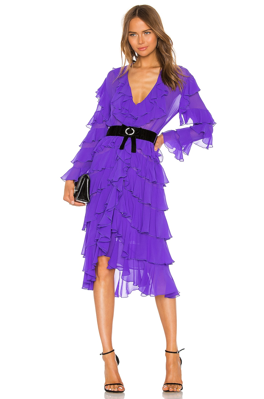 MARIANNA SENCHINA Ruffle Dress in Violet