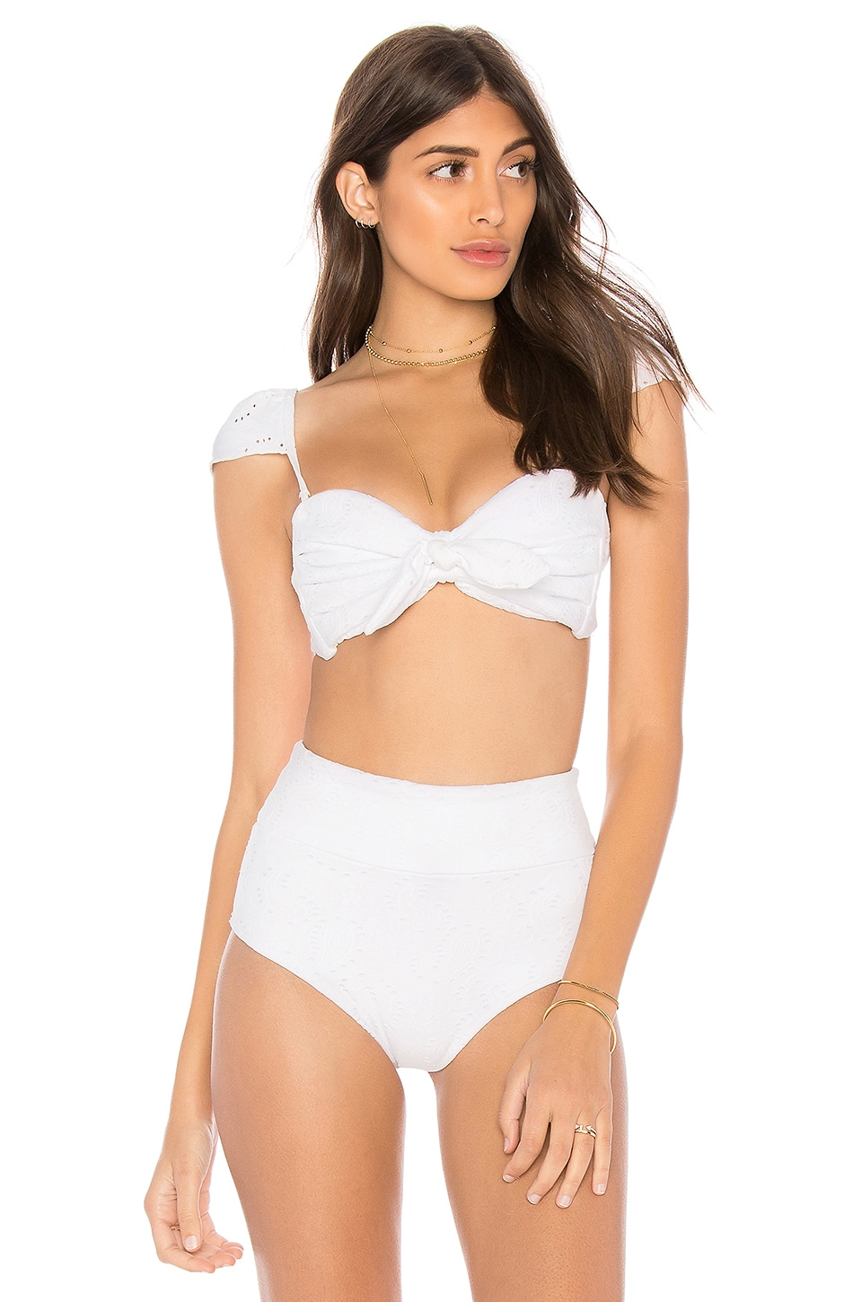 MONTCE SWIM Cabana Bow Top in White