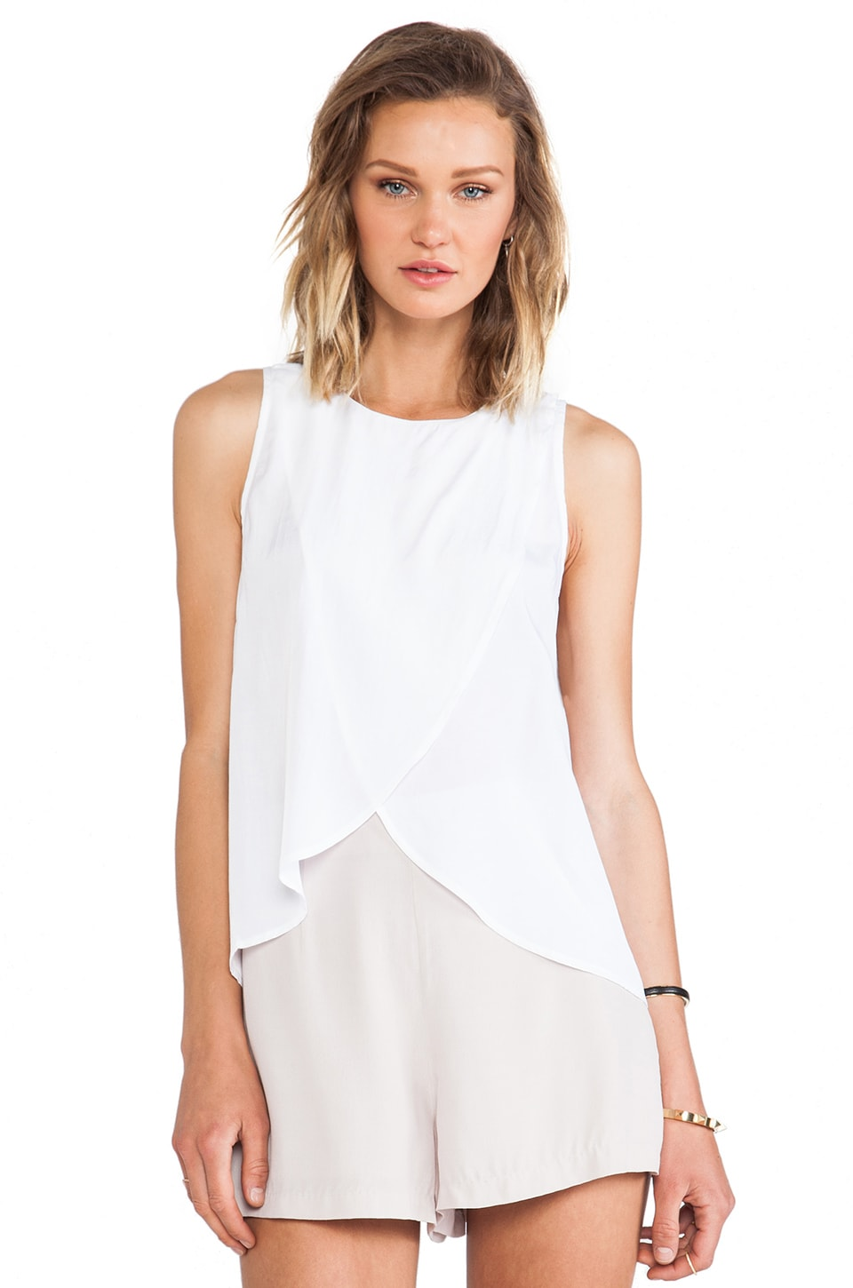 Minty Meets Munt Celina Wrap Top in White