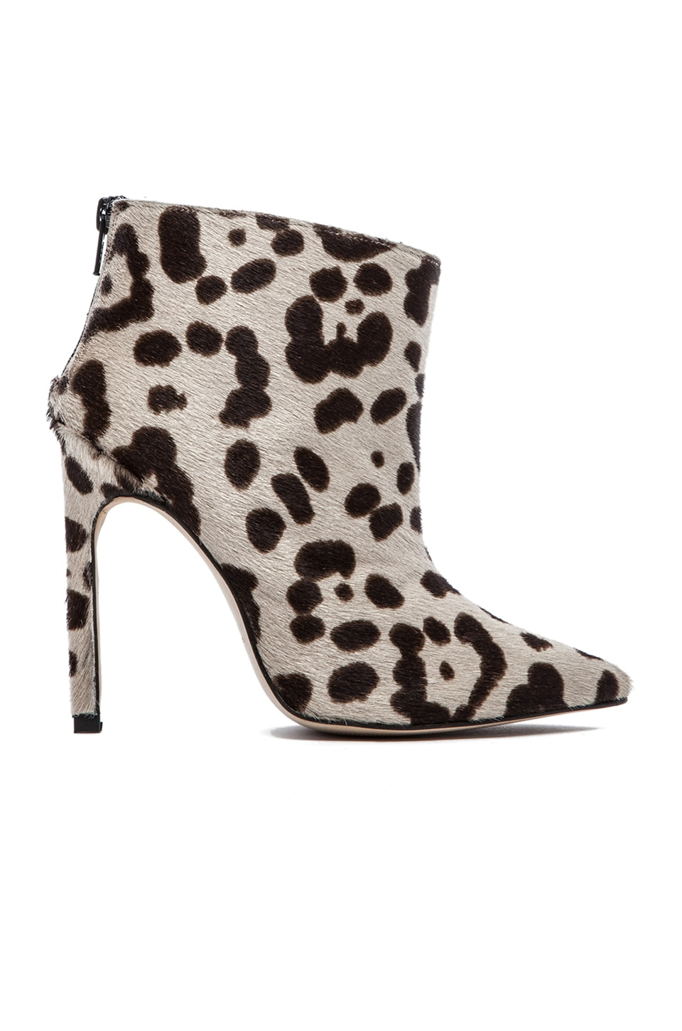 The Mode Collective Point Ankle Boot with Fur in Leopard Pony