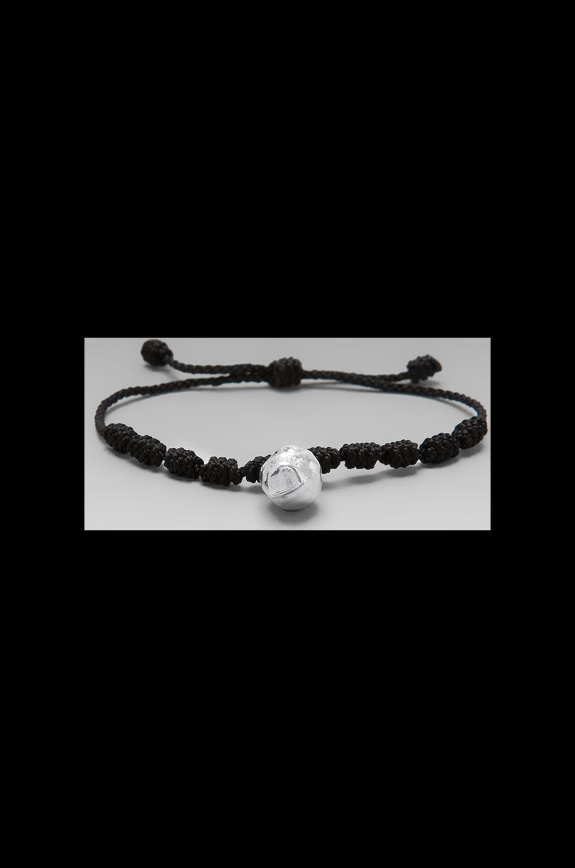 MONO & ME Calavera Bracelet in Black/Silver