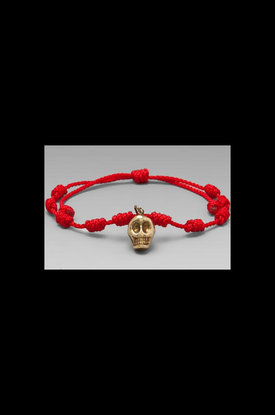 MONO & ME Calavera Bracelet in Red/Gold