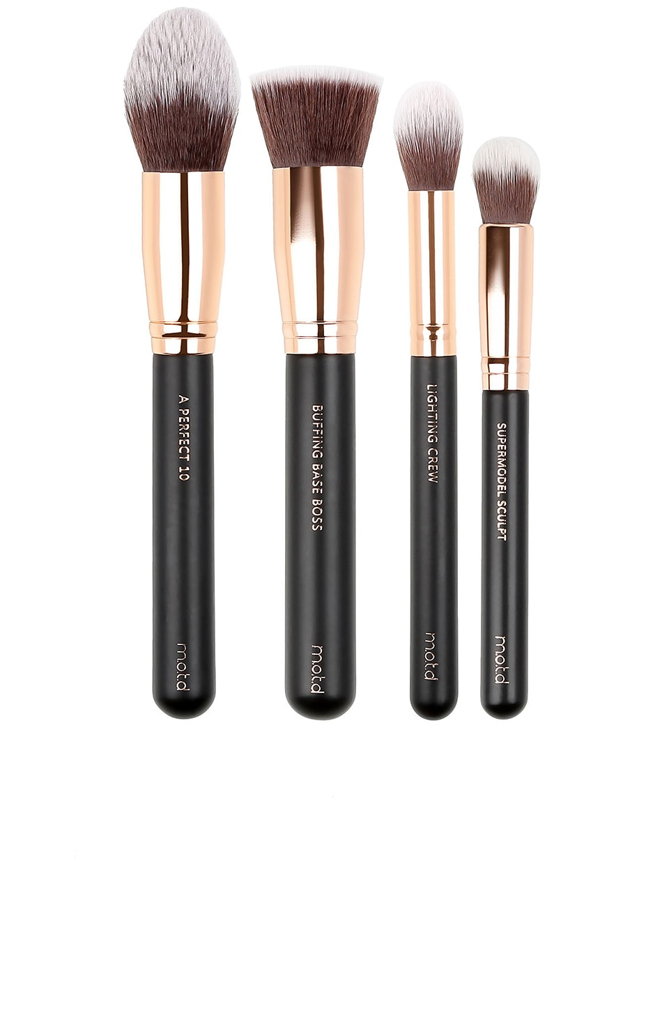 M.O.T.D. COSMETICS CHIC HAPPENS CONTOUR AND HIGHLIGHT MAKEUP BRUSH SET
