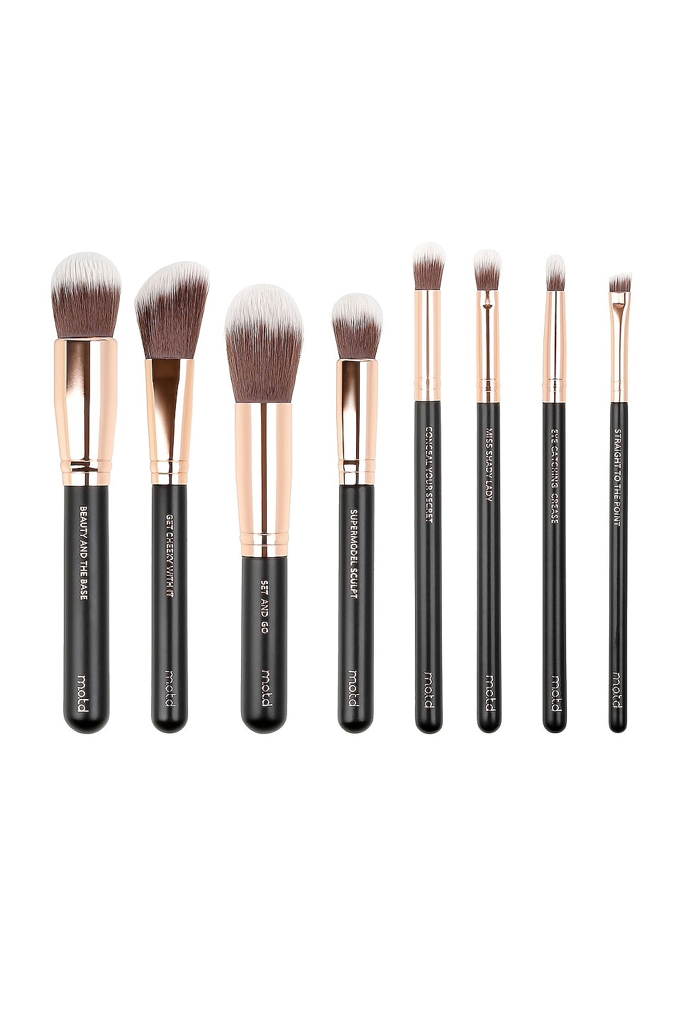 M.O.T.D. Cosmetics Lux Vegan Make Up Brush Essentials in All