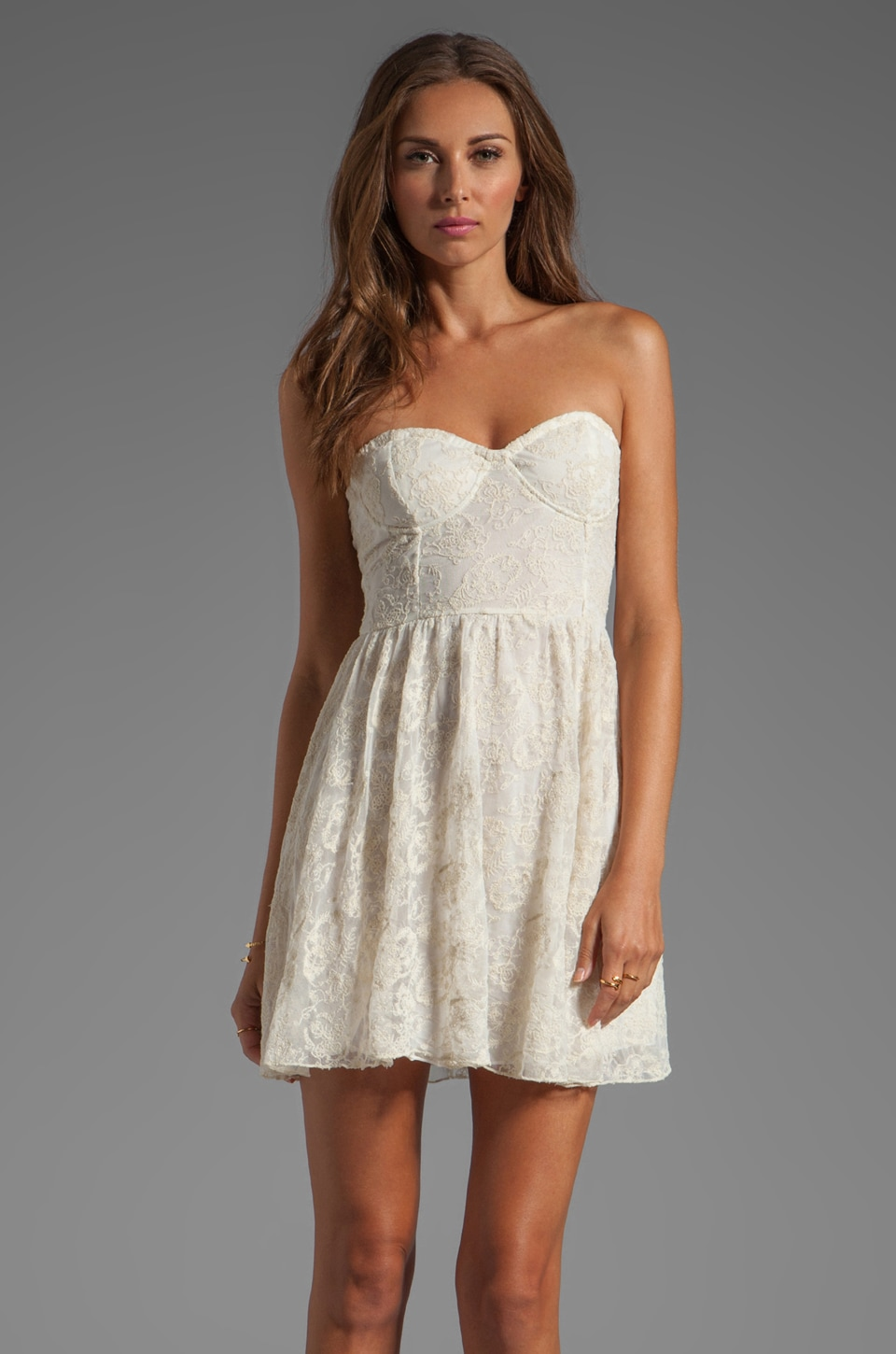 Motel Bloom Dress in Cream