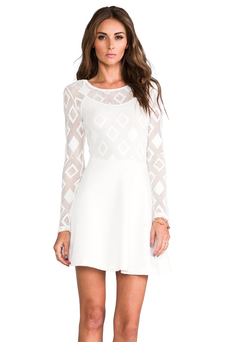 Motel Blush Dress in White
