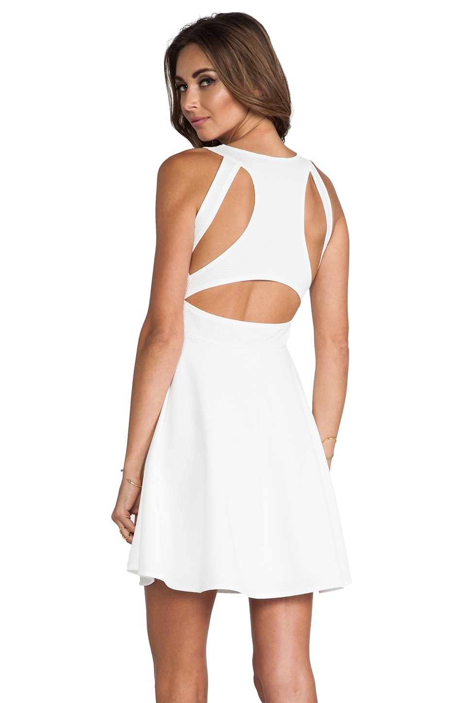 Motel Kale Dress in White