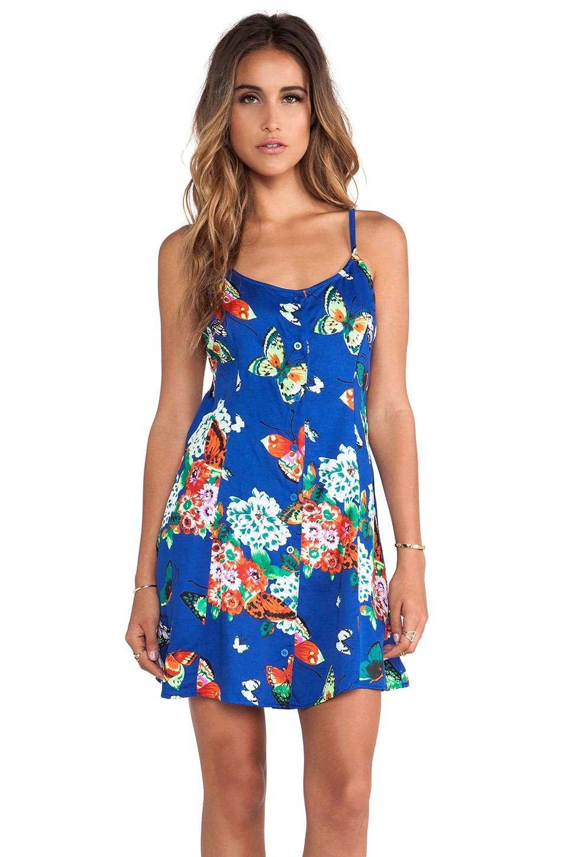 Motel Rian Dress in Butterfly Daze Blue