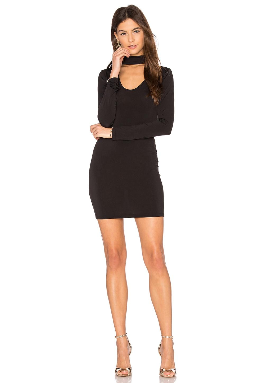 Motel Nymphea Bodycon Dress in Black