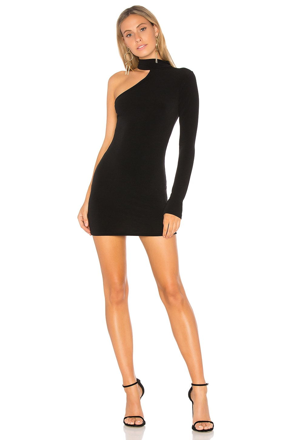 Motel Leposa Mini Dress in Black