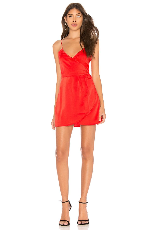 Motel Furia Slip Dress in Red
