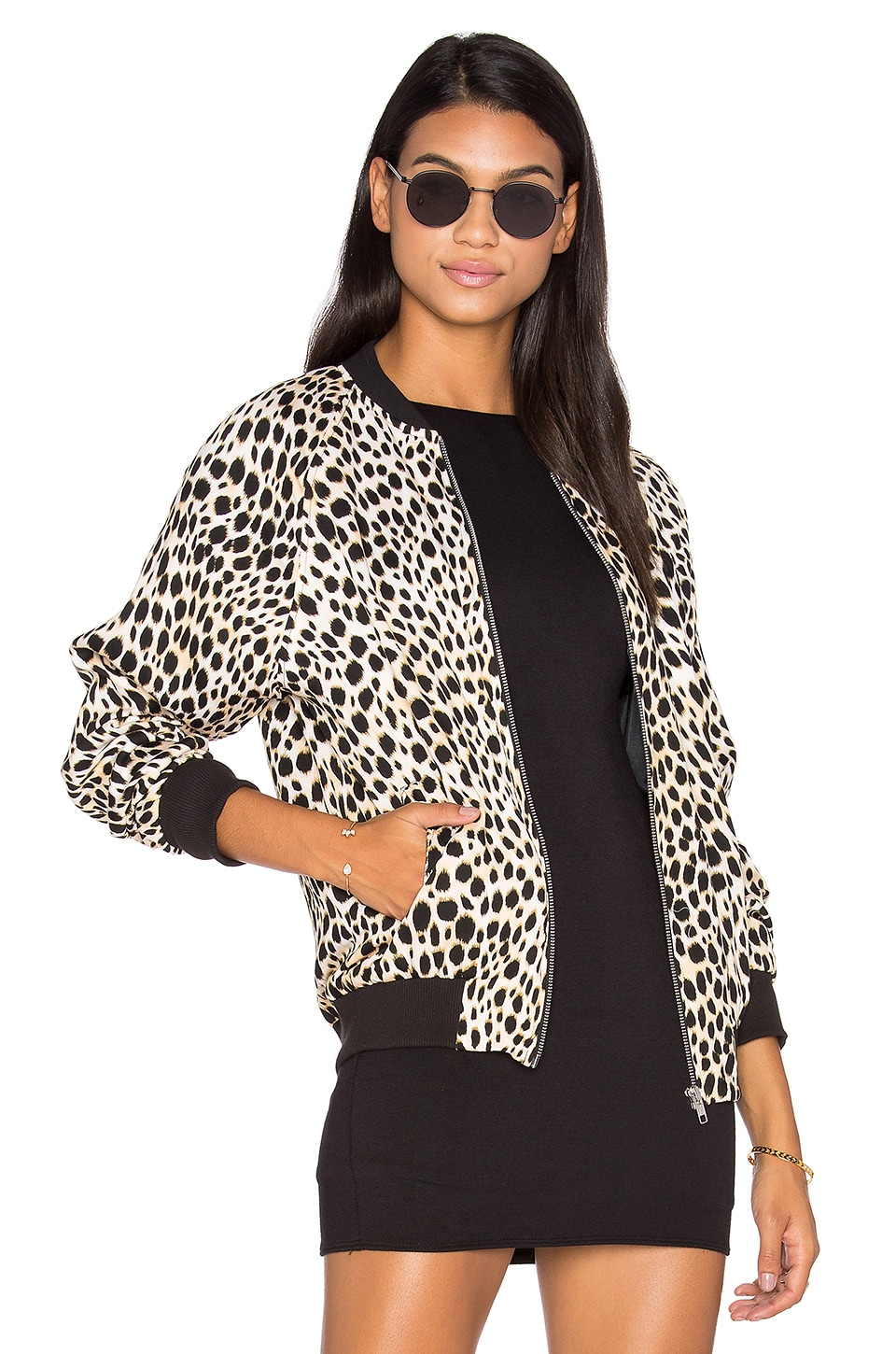 Motel Bomber Jacket in Cheetah