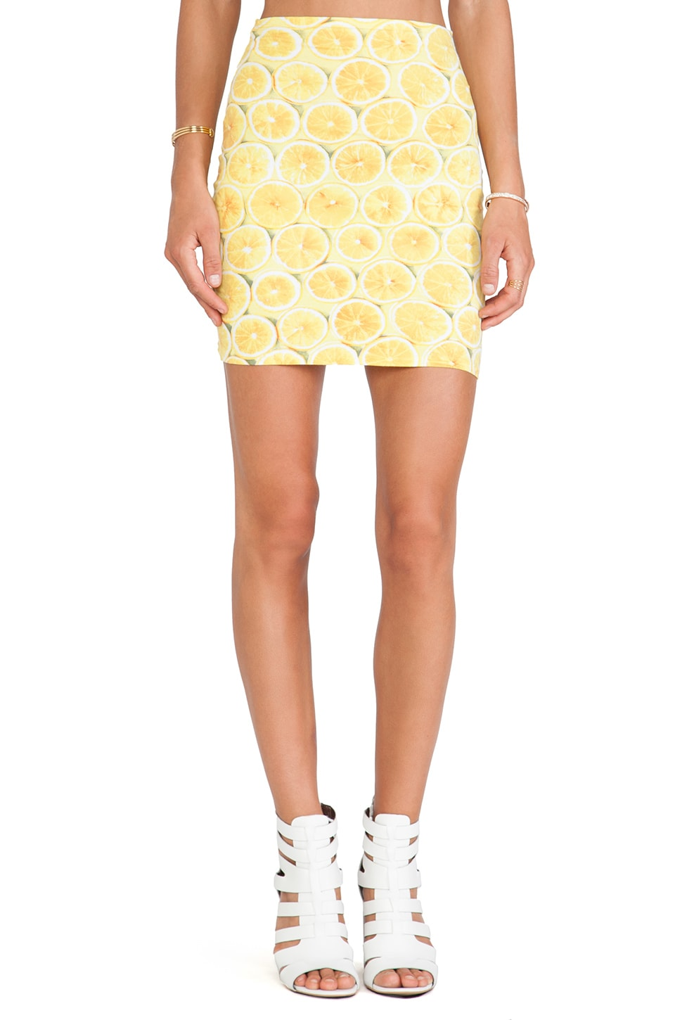 Motel Kimmy Skirt in Lemonade Yellow