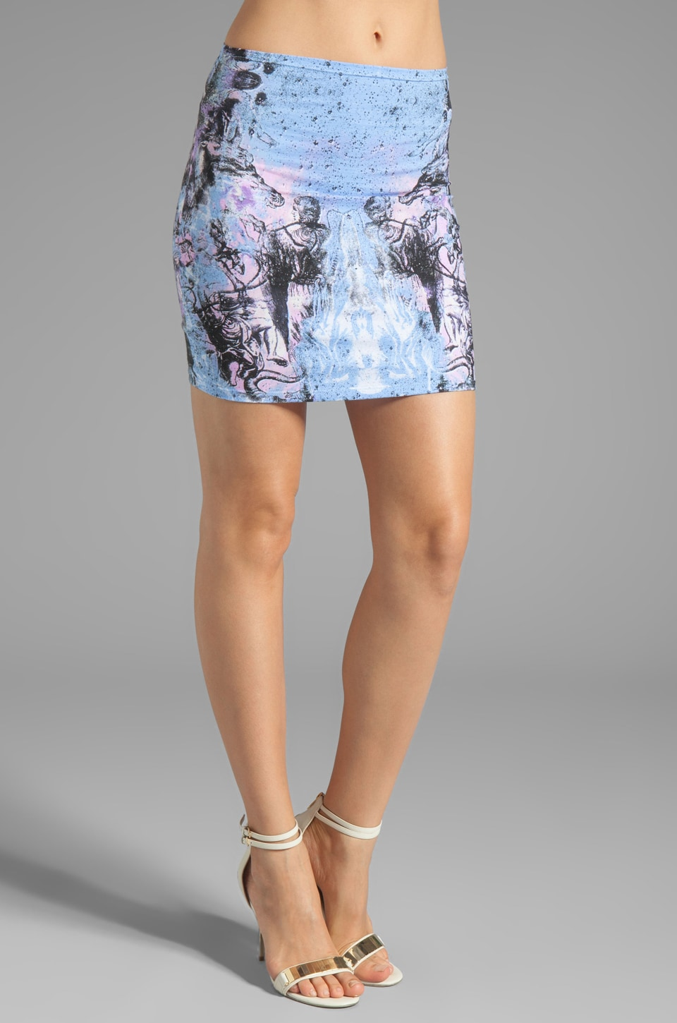 Motel Kimi Skirt in Cosmic Boogie Pale