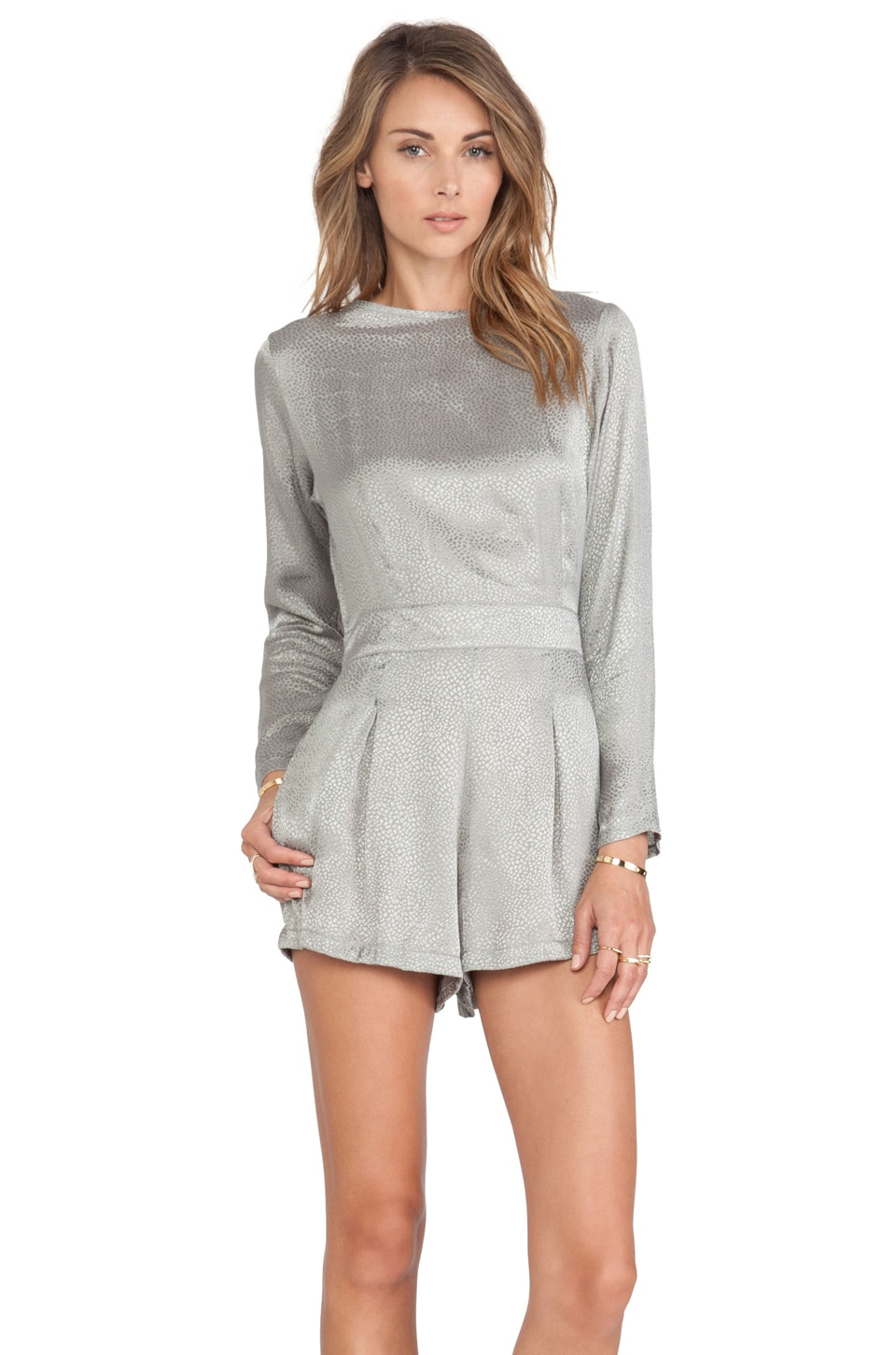 Motel Molly Jumpsuit in Rock Grey