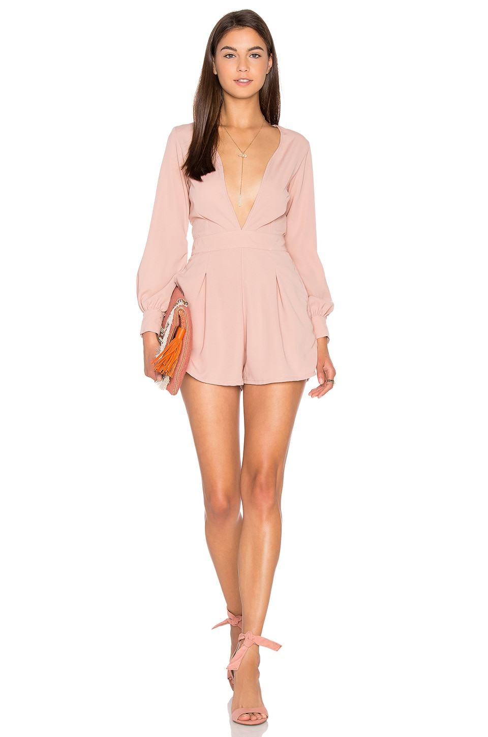Motel Millicent Romper in Blush
