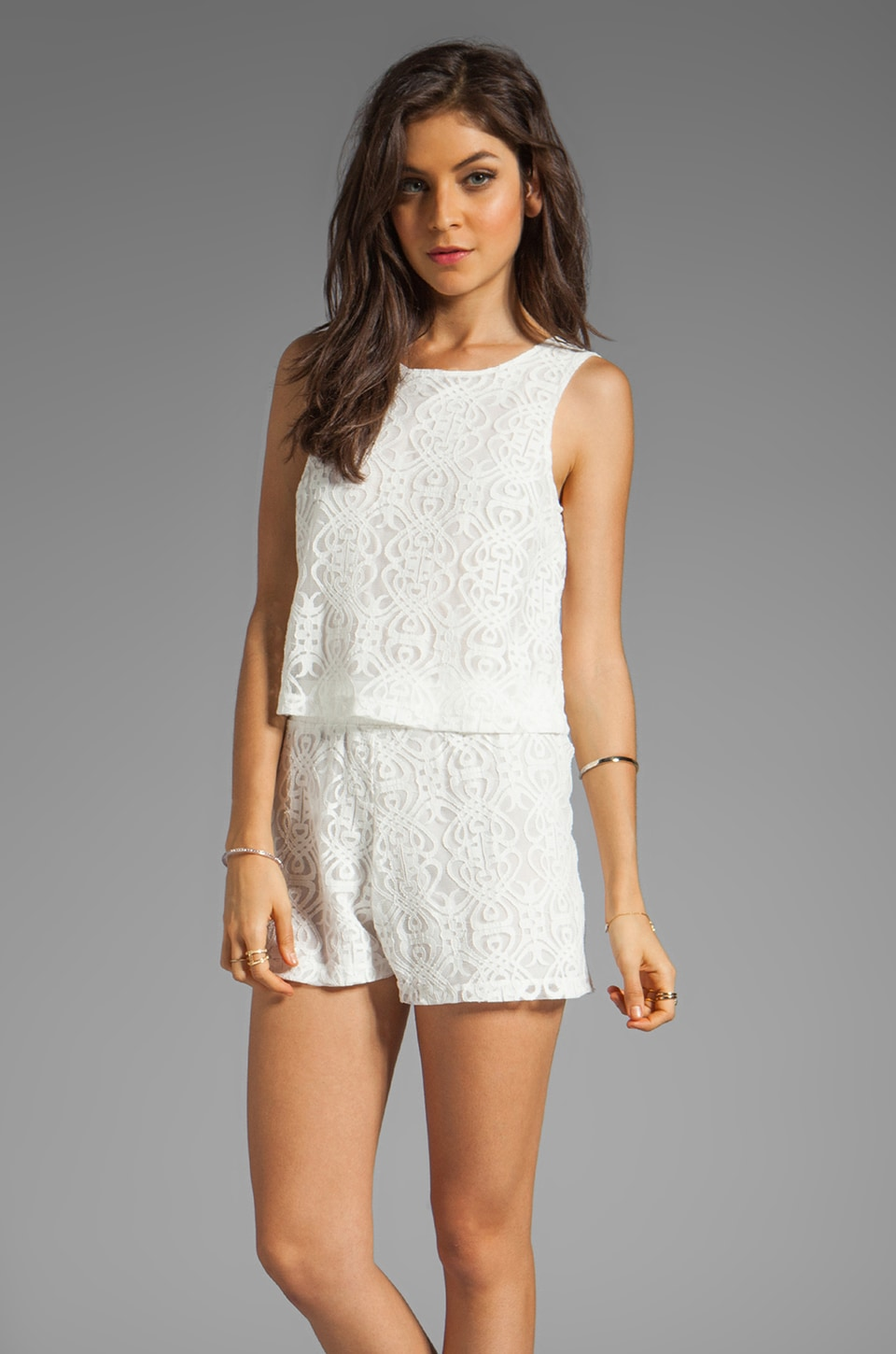 Motel Mary Playsuit in Off White