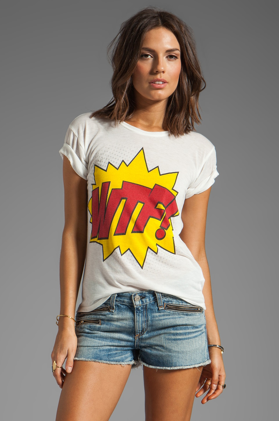 Motel Basic WTF Tee in White