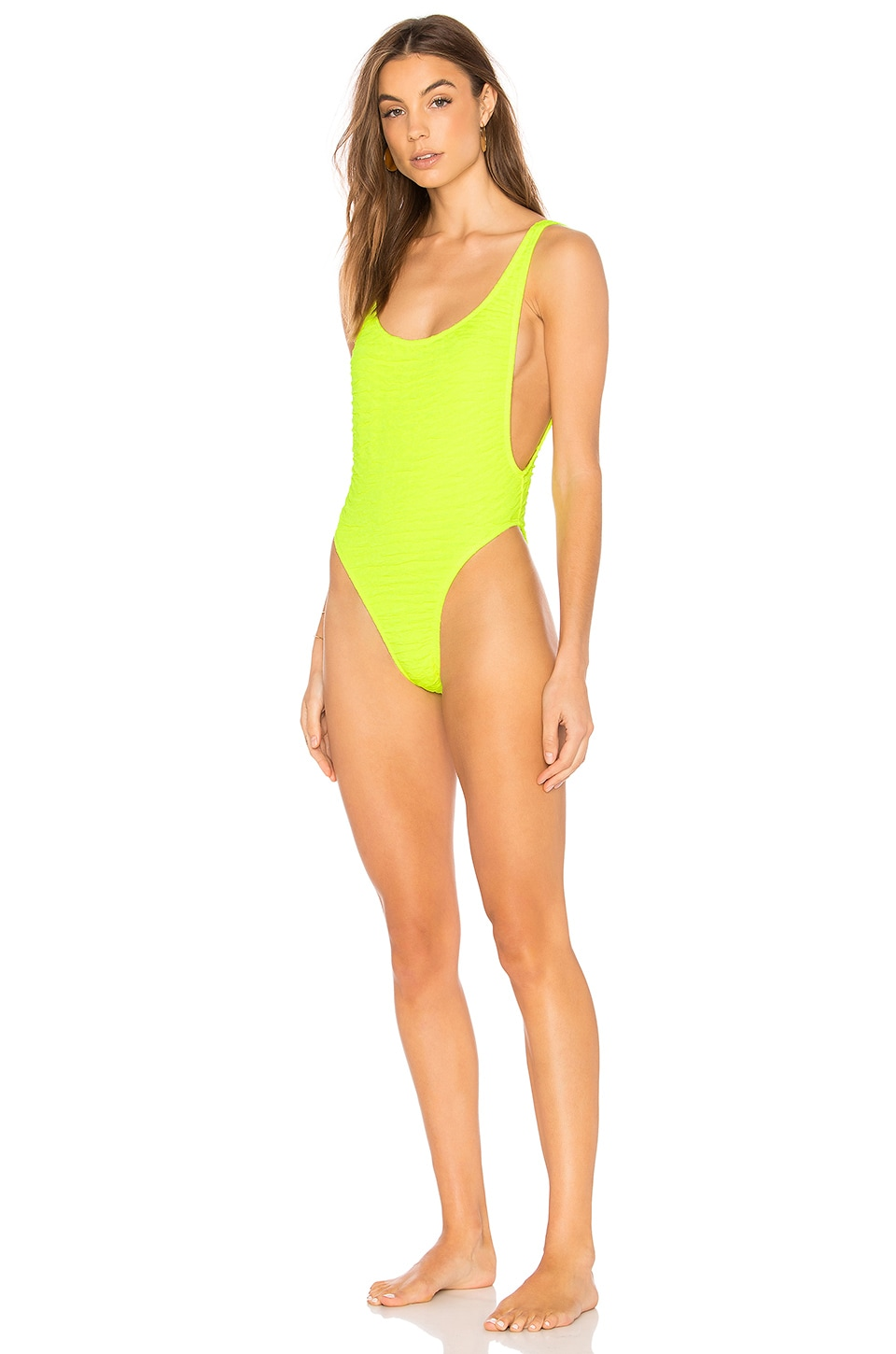 Motel Goddess One Piece in Sour Lime