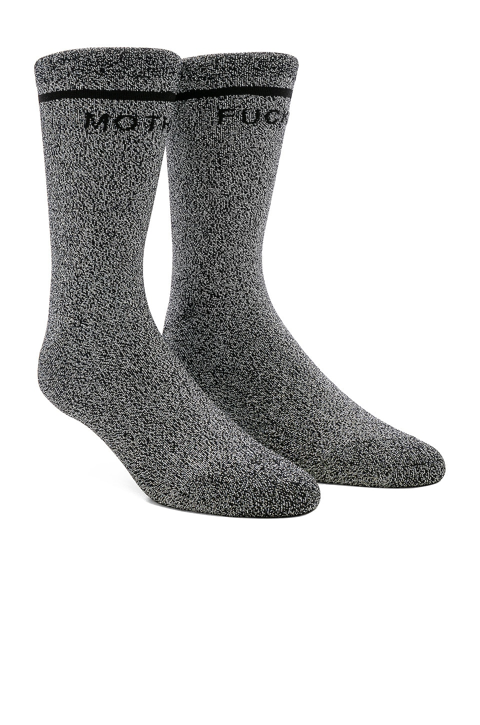 MOTHER The Tiny Dancer Socks in Black Lurex