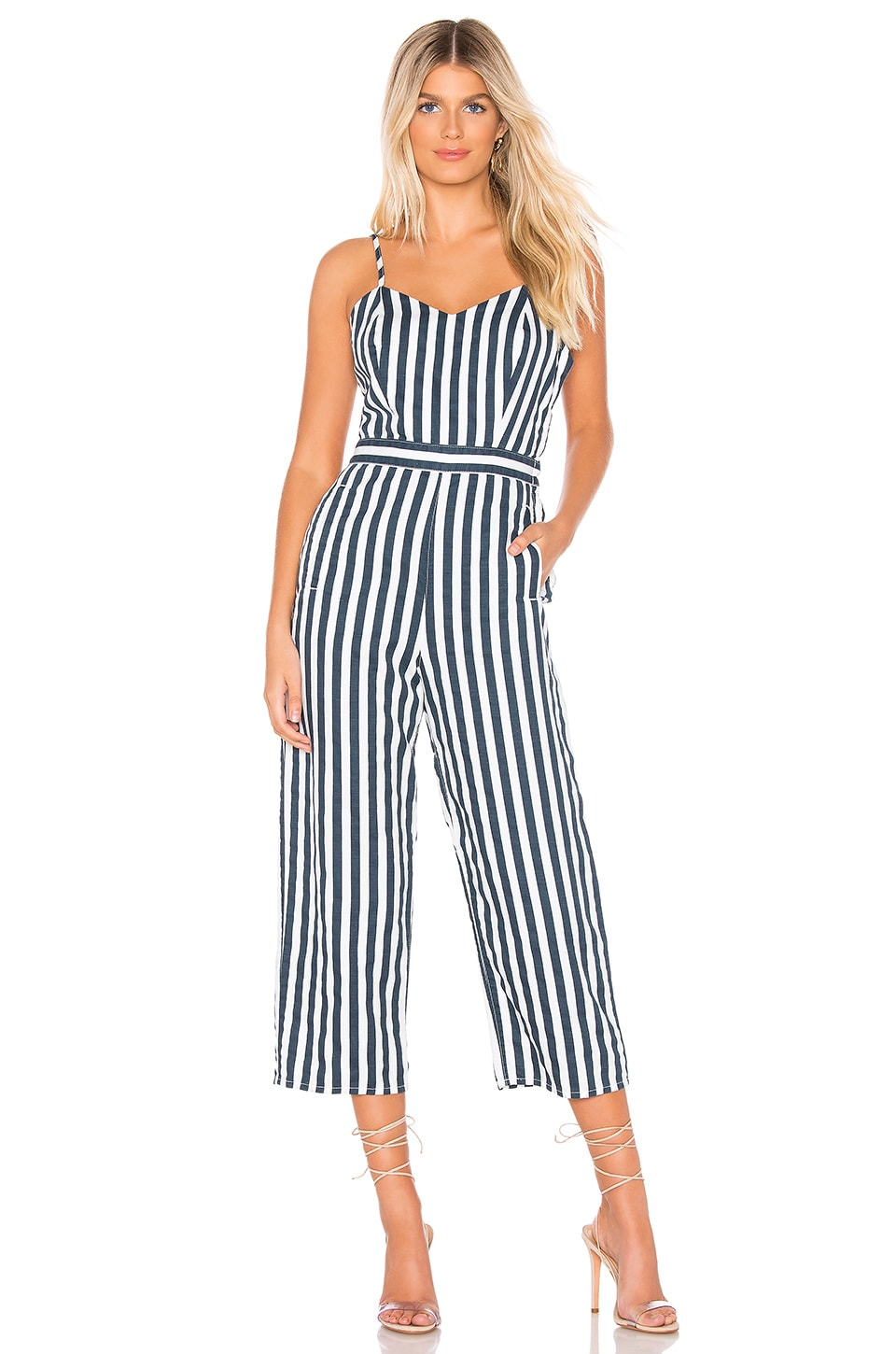 MOTHER The Cut It Out Jumpsuit in Sea Daze