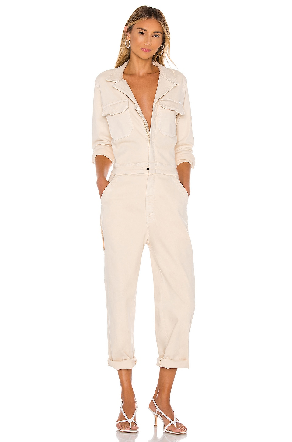 MOTHER The Fixer Jumpsuit in Birch