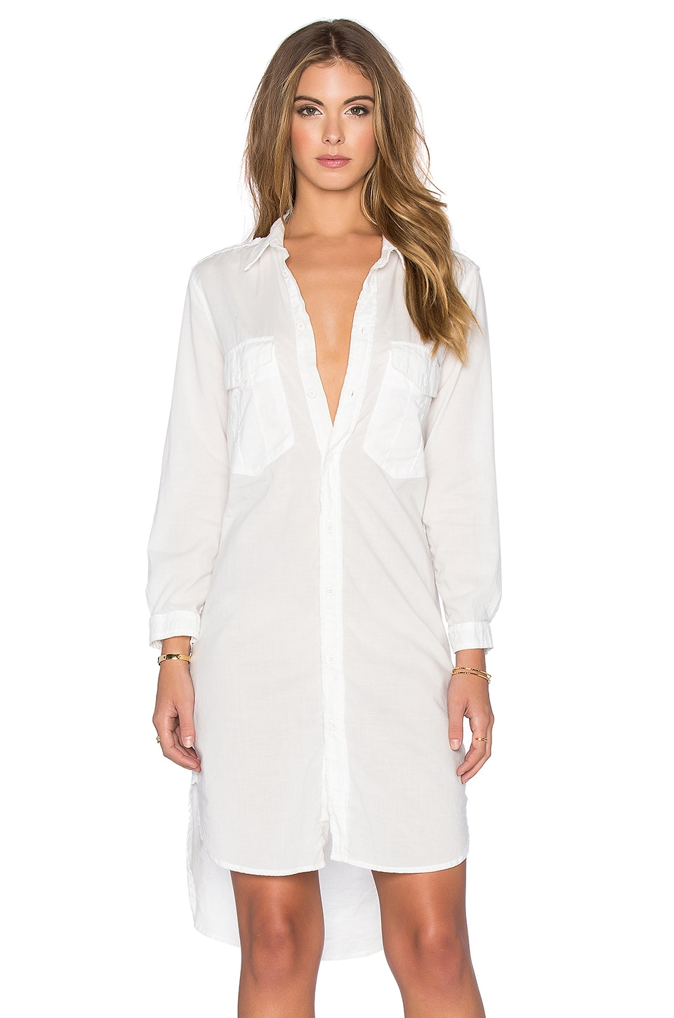 MOTHER The Cadet Dress in White