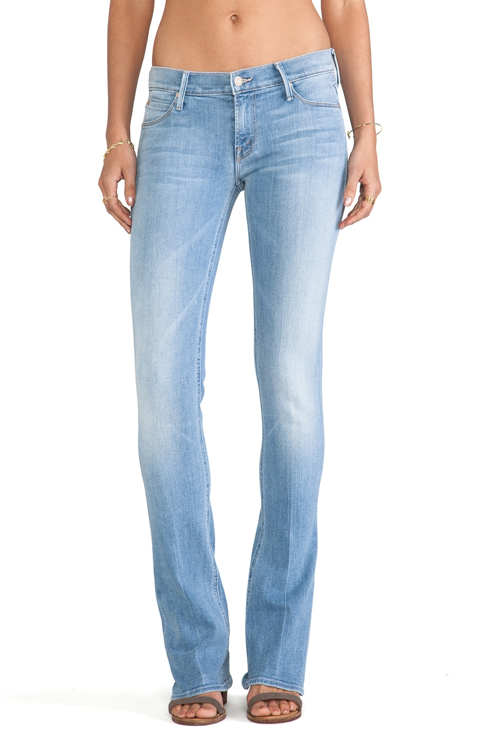 MOTHER The Runaway Skinny Flare Jeans in Light Kitty