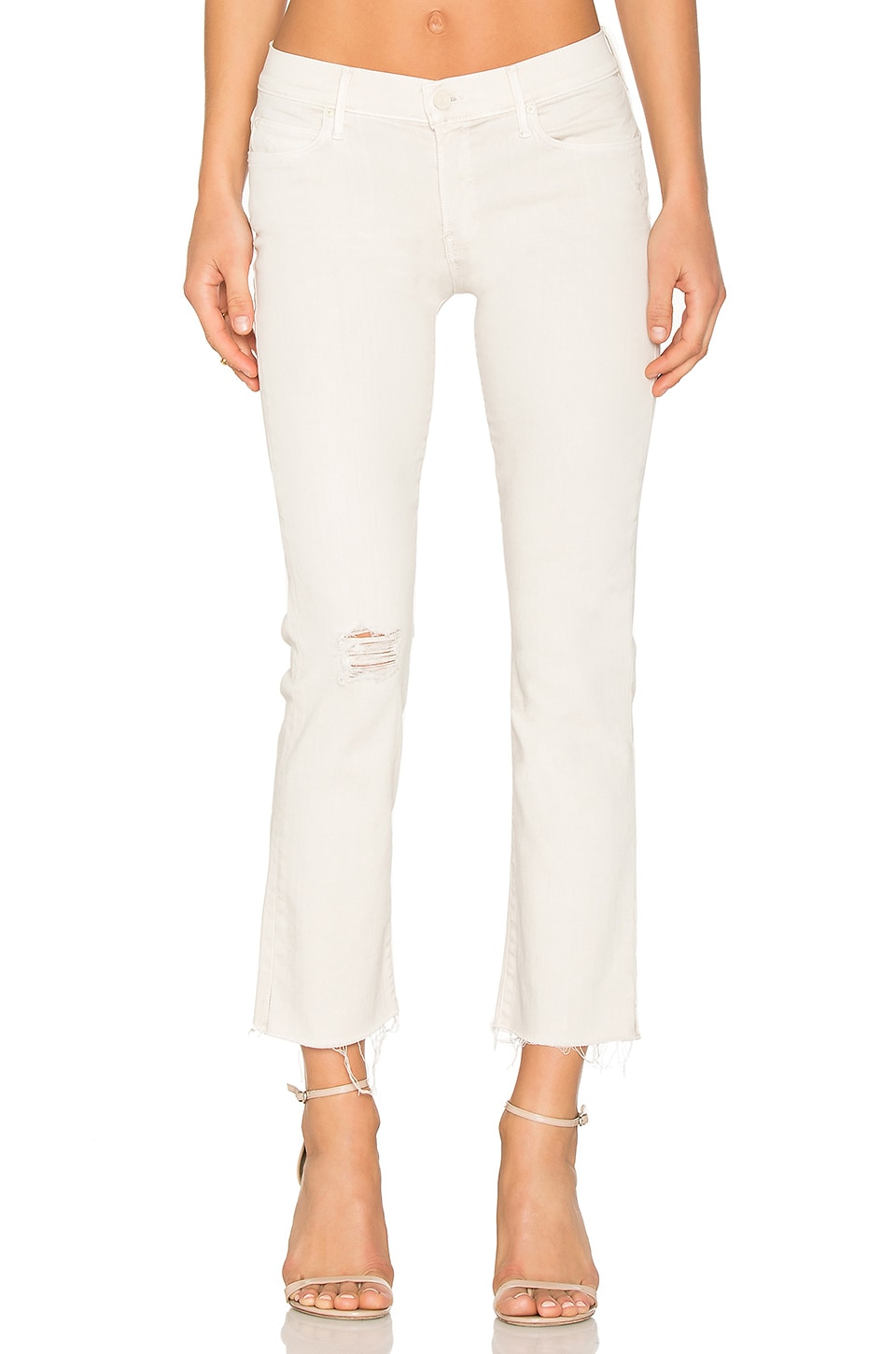 3baf70866b91 MOTHER The Rascal Ankle Snippet in Sexy Just Walked In Cool Ivory ...