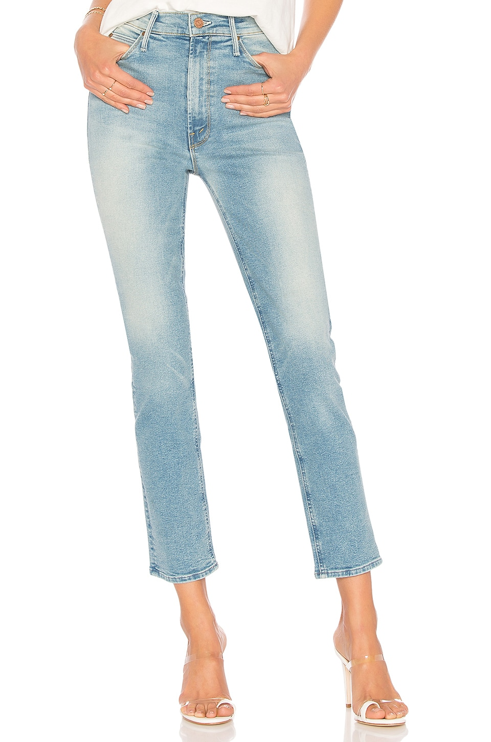MOTHER The Dazzler Ankle Jean in Ready To Roll