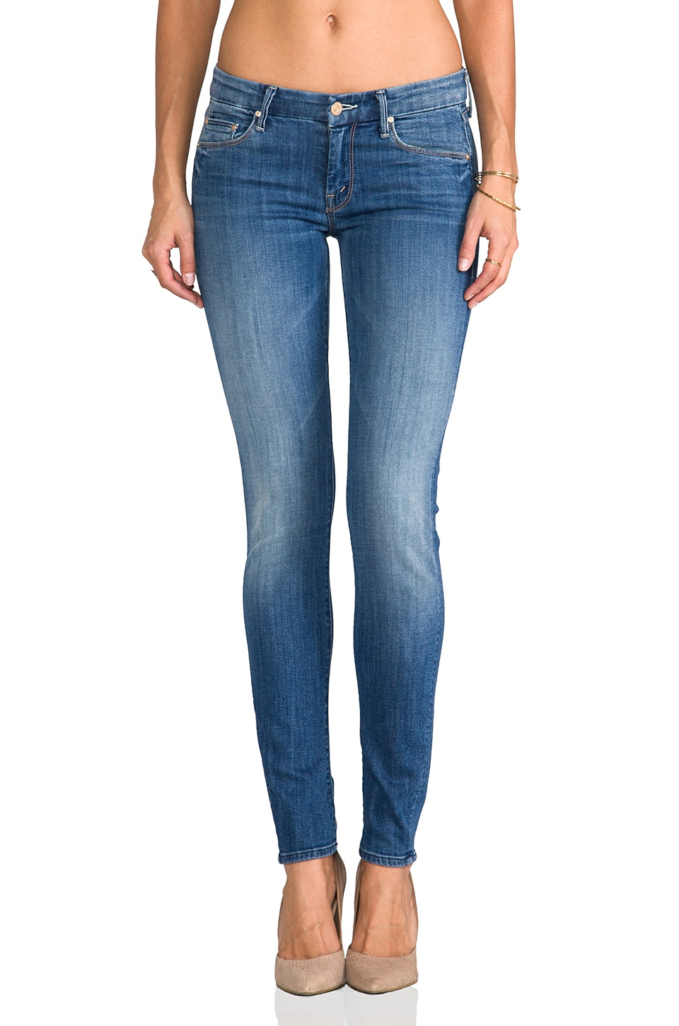 MOTHER The Looker Skinny in Medium Kitty