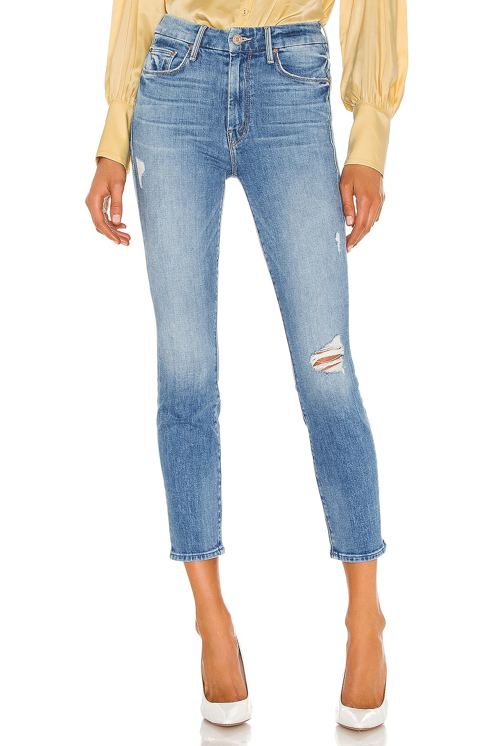 MOTHER High Waisted Looker Crop in Let's Kick It