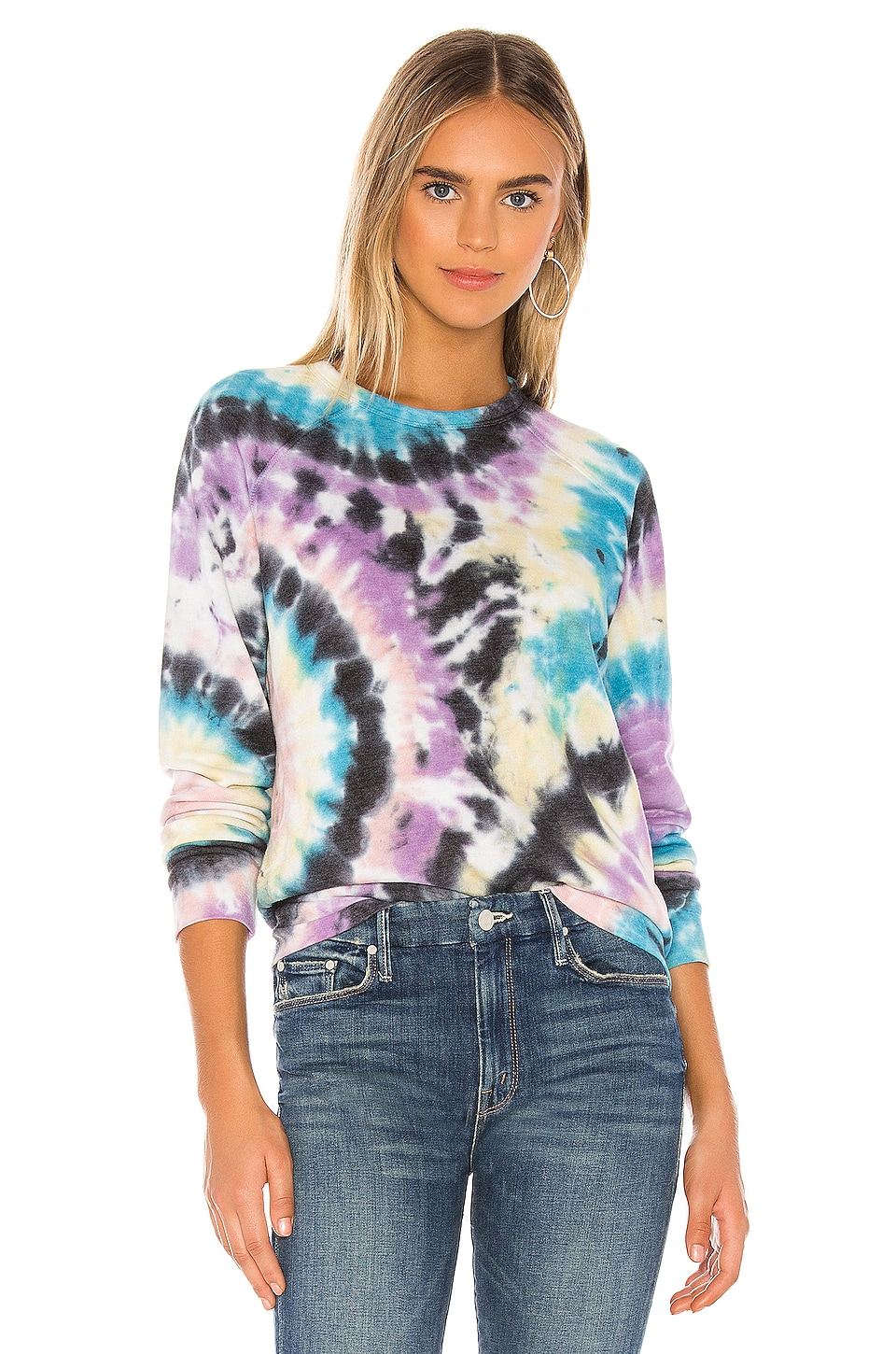 MOTHER The Hugger Sweatshirt in Swirling Secrets