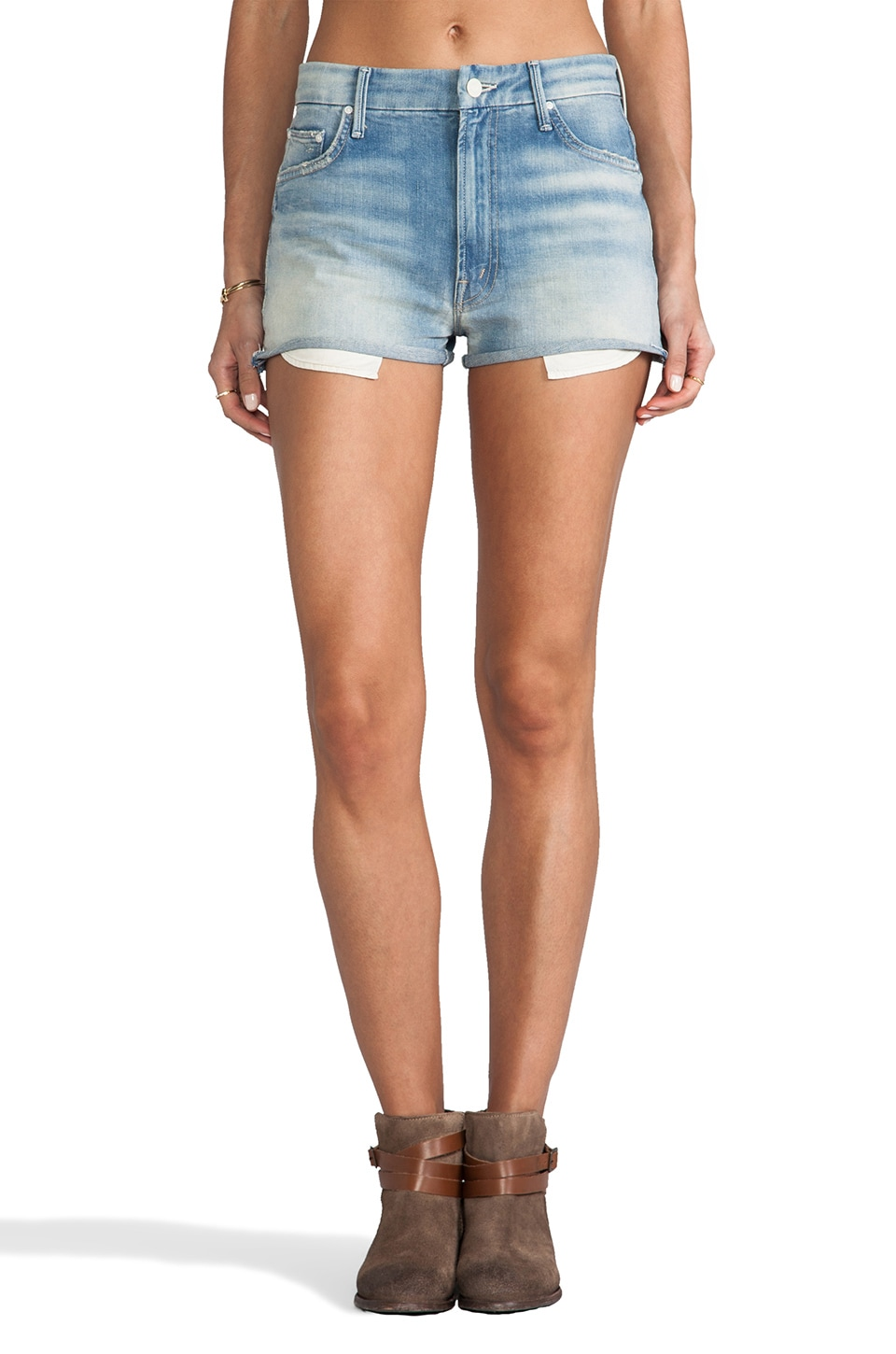 MOTHER High Waist Cutoffs in Love Drunk Cowboy