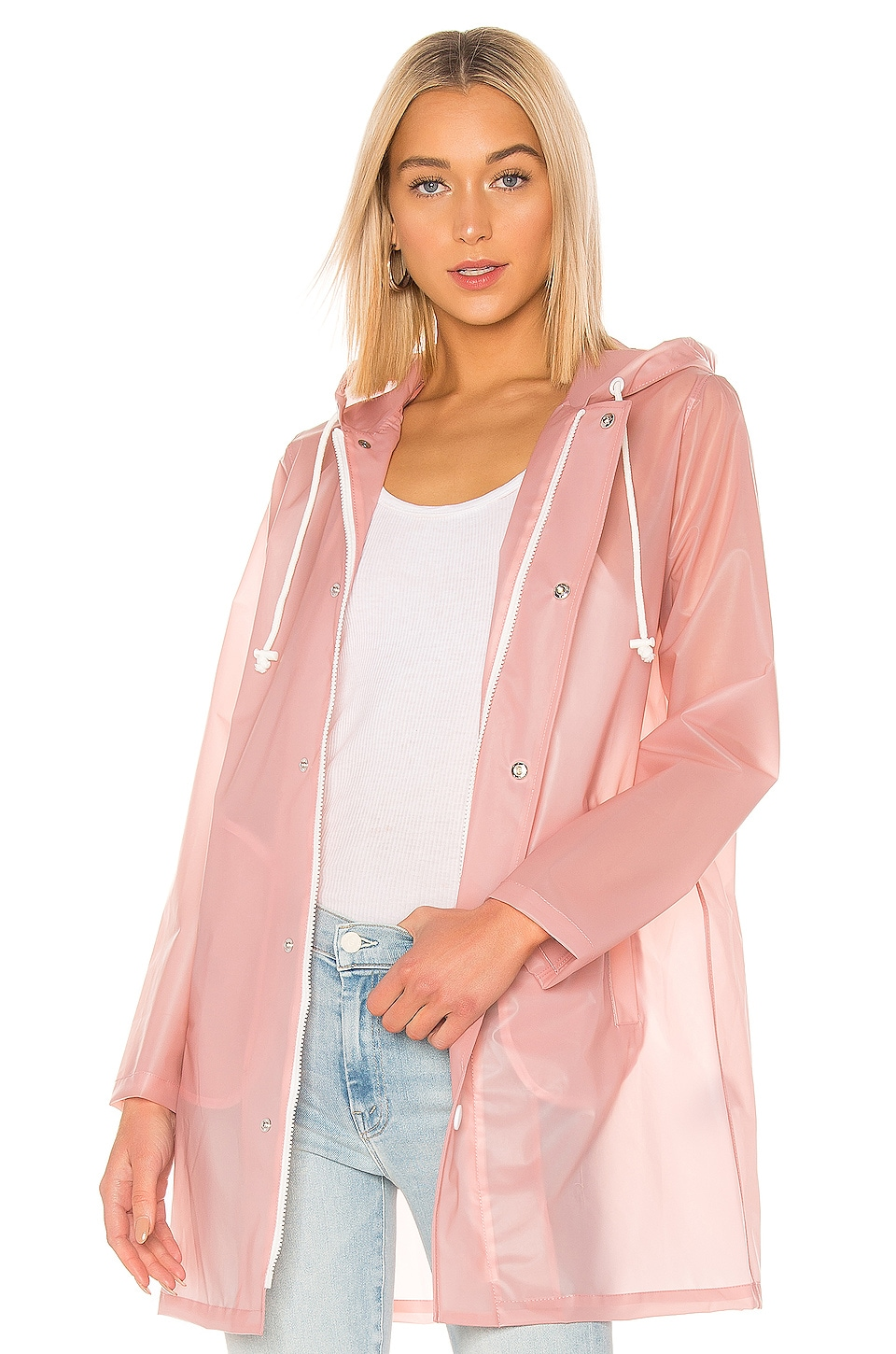 Mother Coats MOTHER THE RAINCOAT IN PINK.