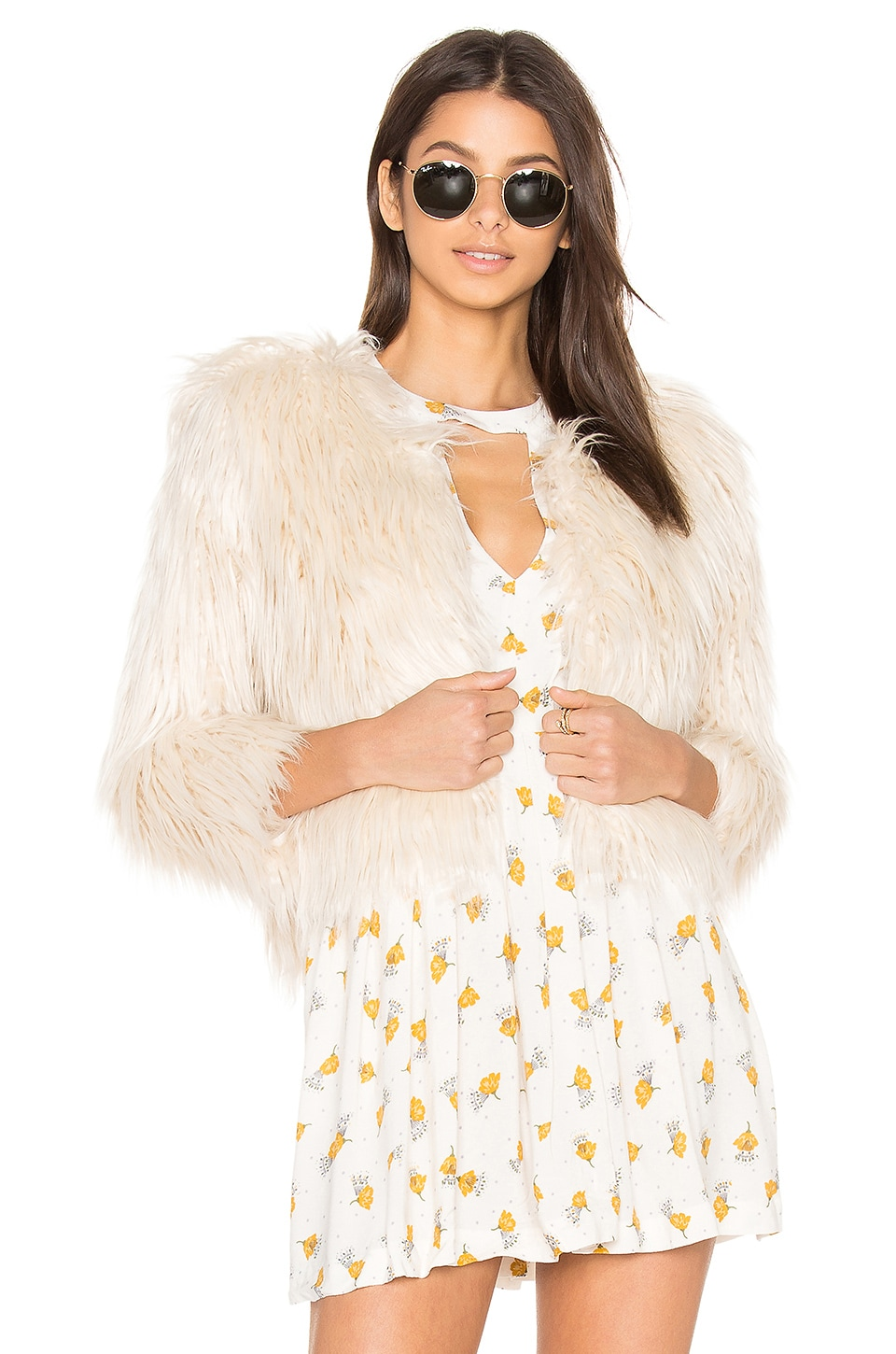 The Boxy Faux Fur Jacket by MOTHER