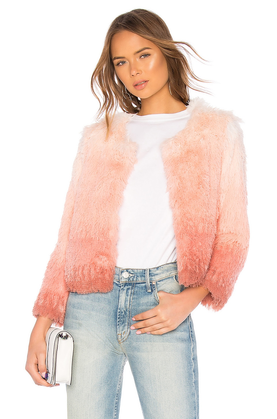 MOTHER The Faux Fur Boxy Jacket in Rocket In My Pocket