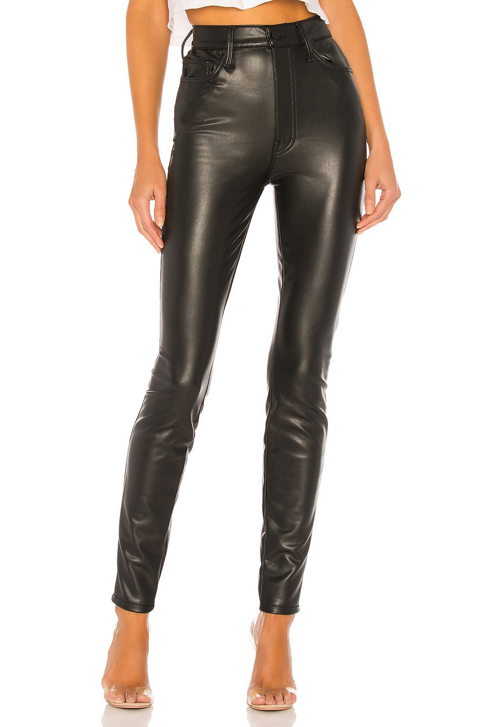 buying cheap superior quality best shoes MOTHER The Super Swooner Vegan Leather Pant in Faux Show   REVOLVE