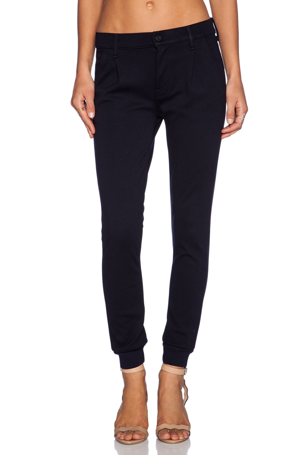 MOTHER Pleated Trainer Pant in French Kissing
