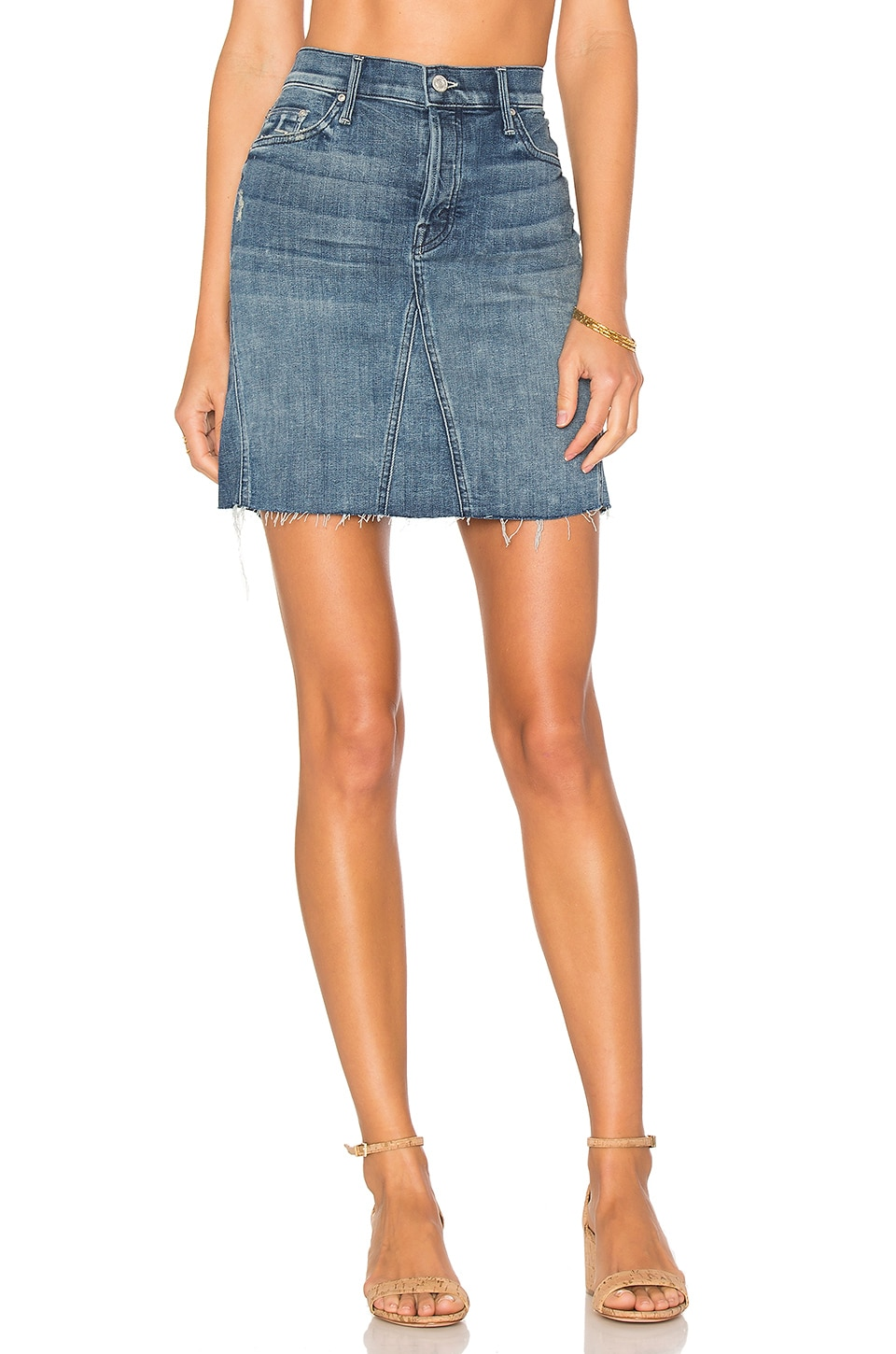 The Four Points Mini Skirt by MOTHER