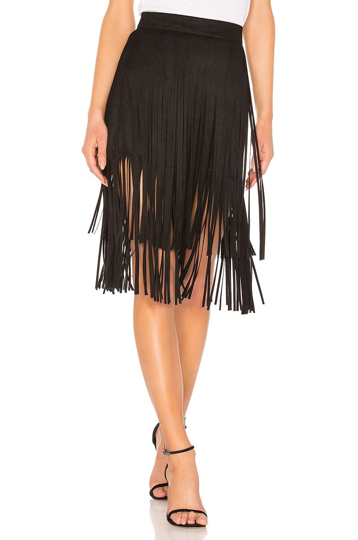 MOTHER The Fringe Faux Suede Skirt in Fringe Benefits