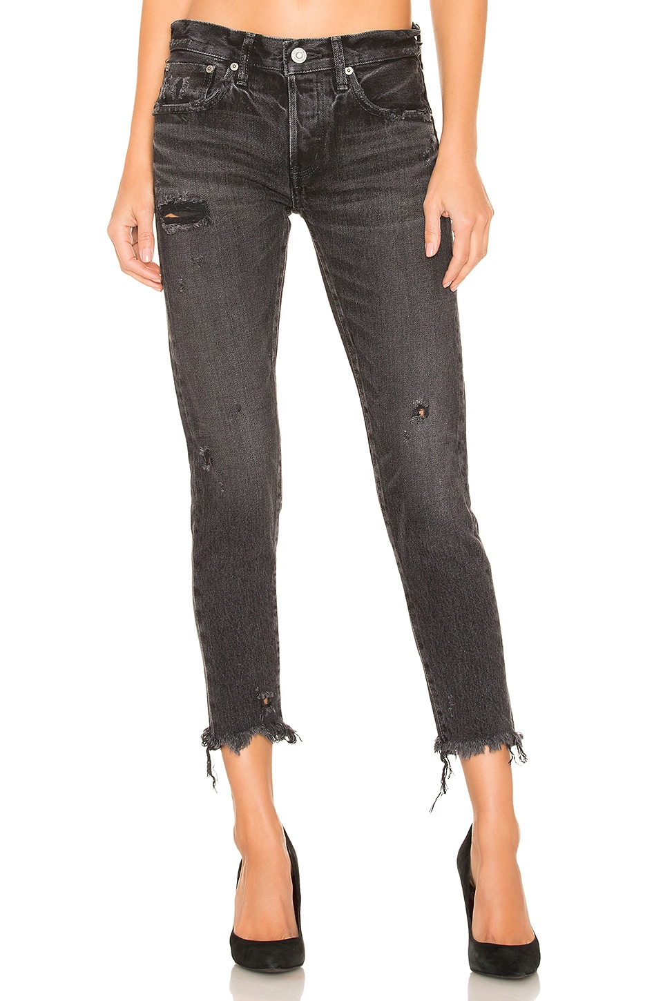 Moussy Vintage Kelley Tapered Jean in Black