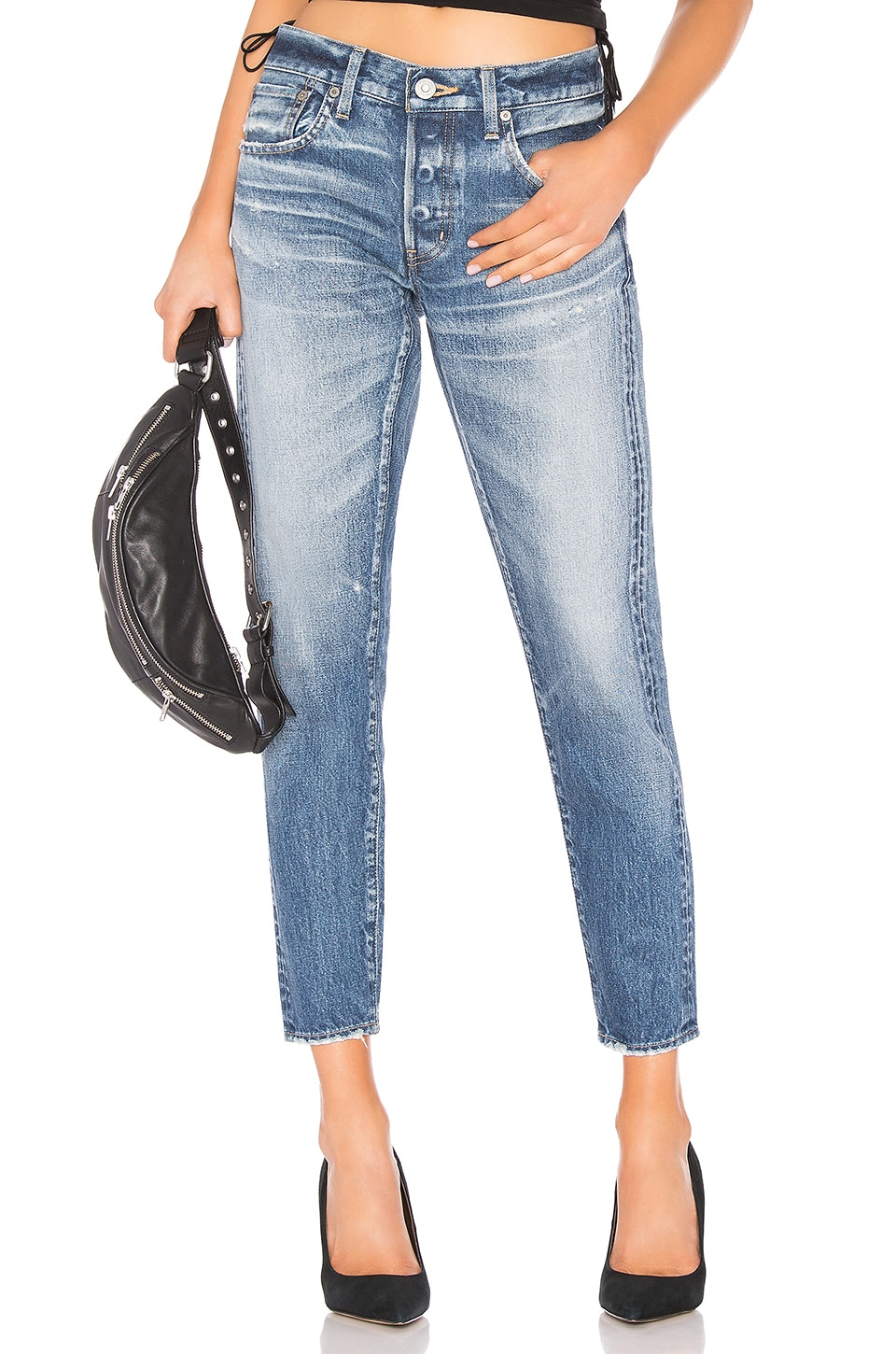 Moussy Vintage Vienna Tapered in Blue